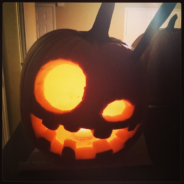 And we can't forget Shane's goofy pumpkin!